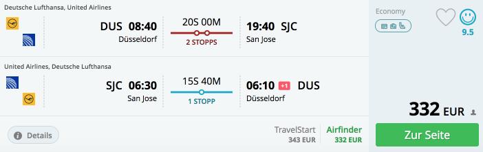 momondo DUS-SJC Lufthansa