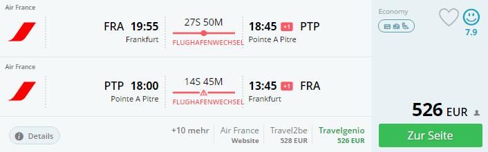momondo FRA-PTP Air France
