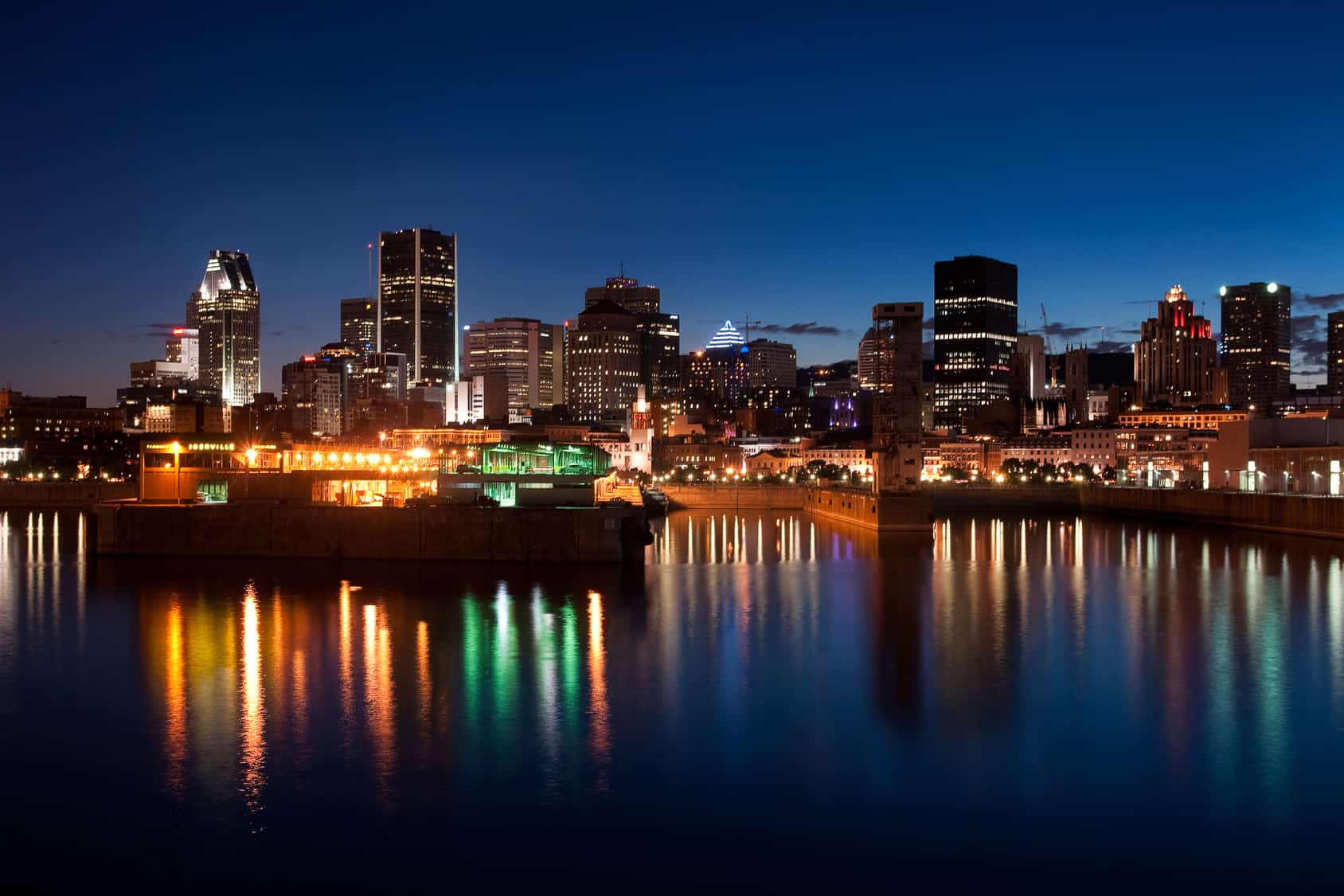 City of Montreal at night