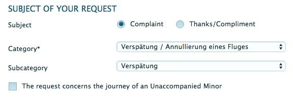 KLM Ausgleich beantragen