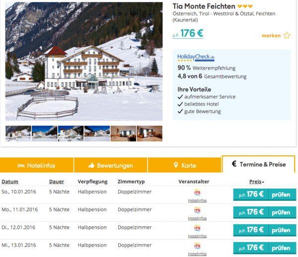 6 Tage Skiurlaub in Tirol