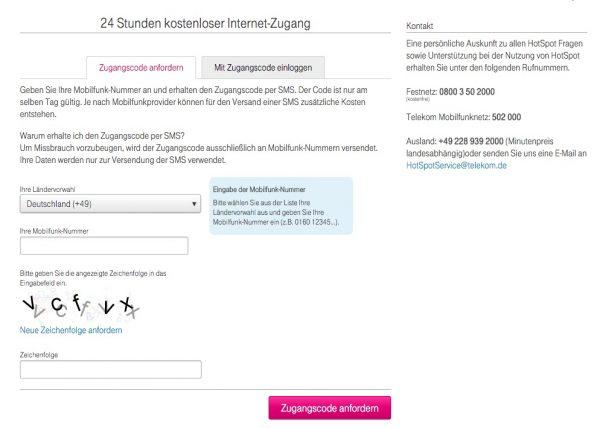 Telekom HotSpot 24h Pass kostenlos