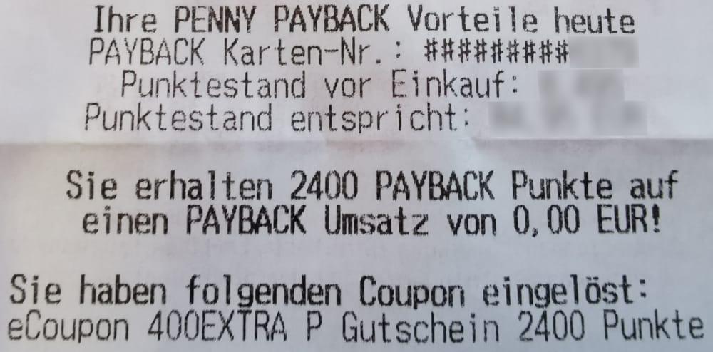 payback wunschgutschein punkte