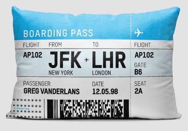 Airportag Boarding Pass Kissen