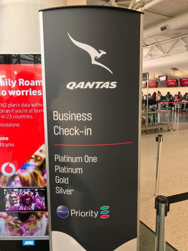 Qantas Business Check-in