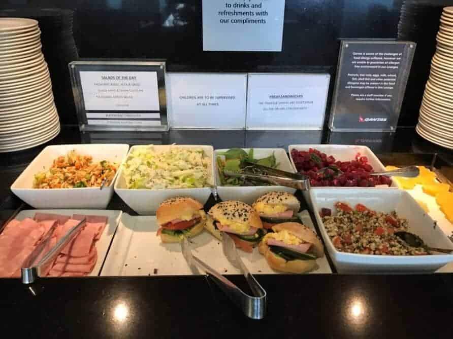 Qantas First Class Lounge Buffet