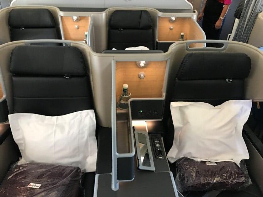 Qantas Airbus A330-200 Business Suite Mittelsitze