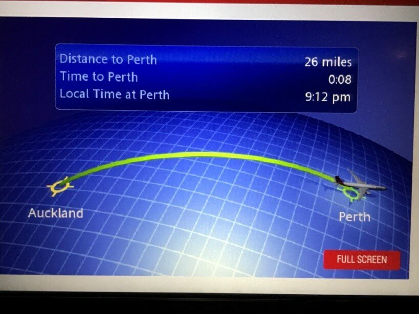Qantas Airbus A330-200 Business Suite Moving Map