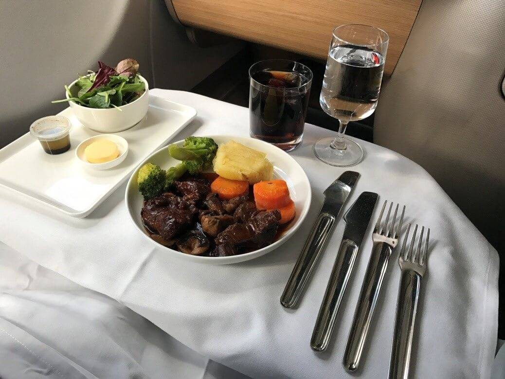 Qantas Business Suite Hauptgang