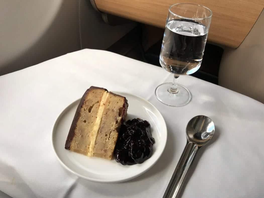 Qantas Business Suite Nachtisch