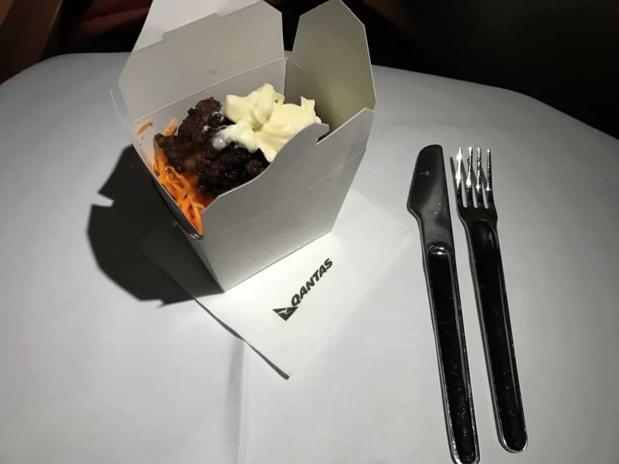 Qantas Business Suite Snack