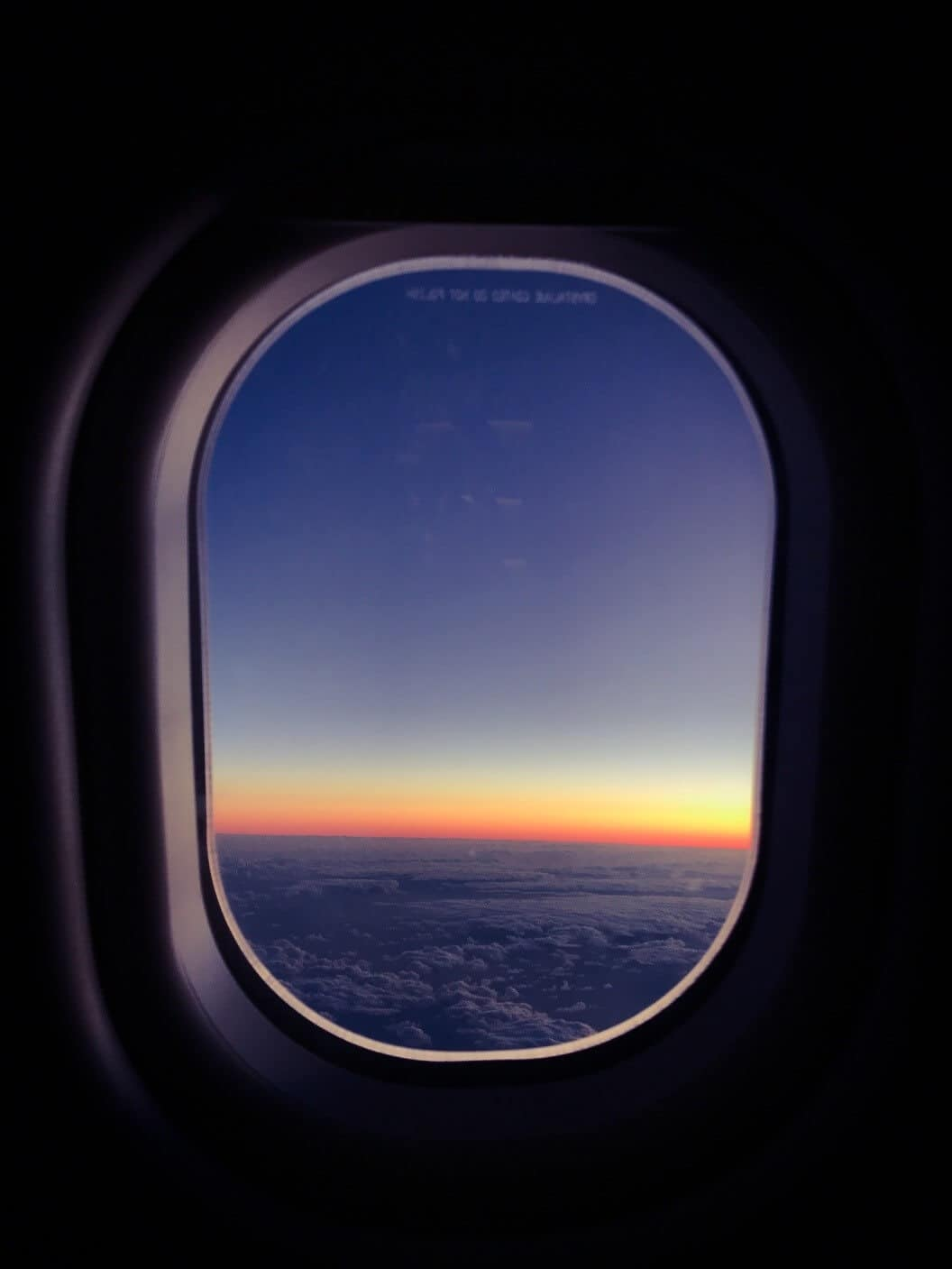 InFlight Sonnenuntergang