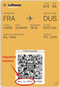 lh mobile bpass sequence number