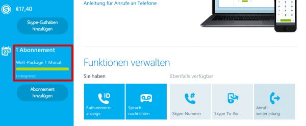 Skype Abo kündigen #1