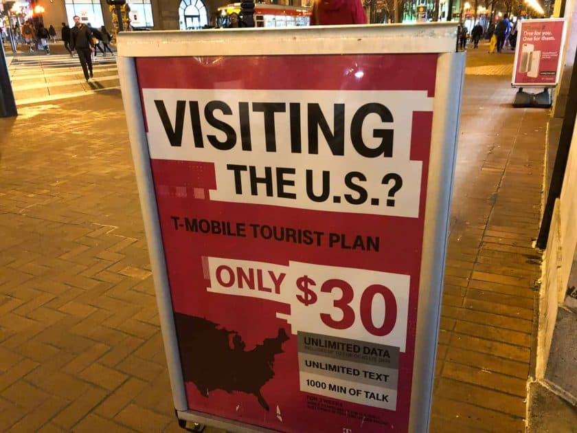 t-mobile USA Tourist Plan