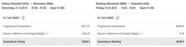 Germanwings Düsseldorf - Manchester