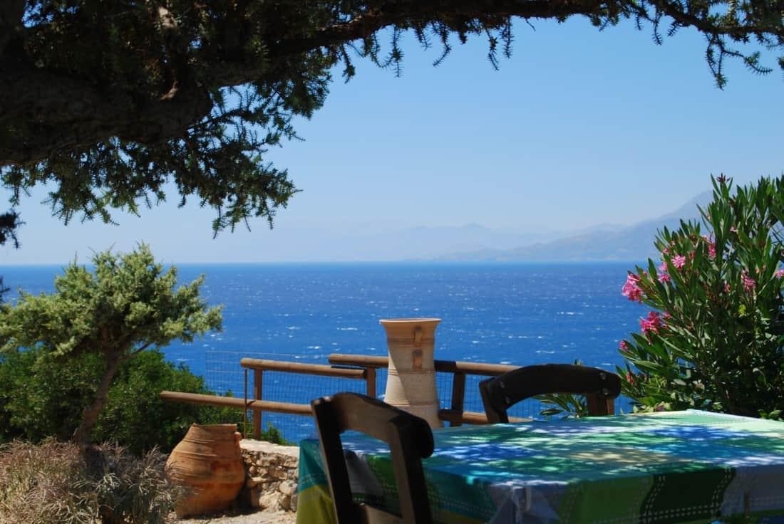 tavern, crete, sea