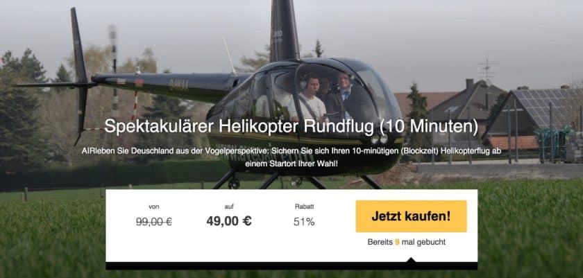 TravelBird Helikopterrundflug