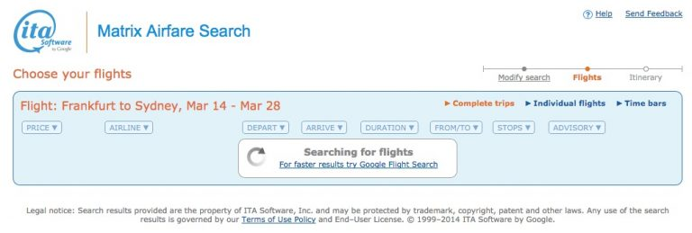 ITA Matrix Google Flights