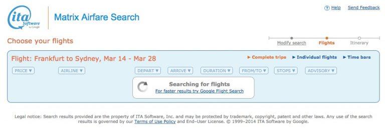ITA Matrix Google Flights