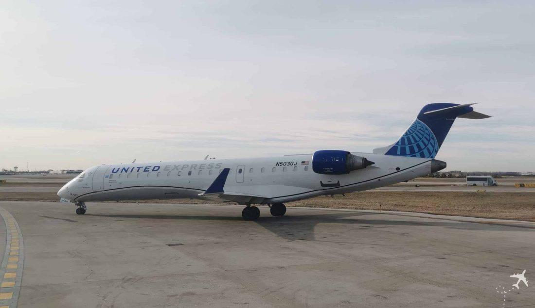 United CRJ550 MSN ORD aussen