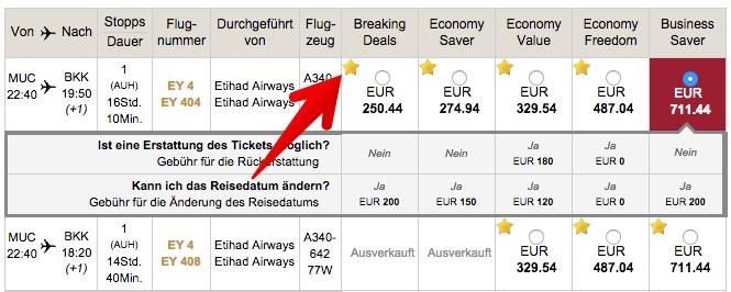 Etihad Airways Gutschein eingelöst