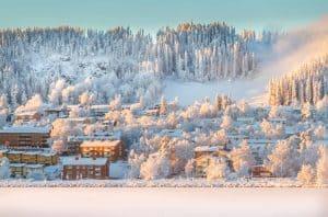Winter in Östersund Sweden