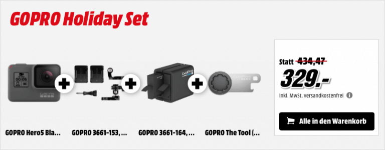 MediaMarkt GoPro Hero Holiday Set