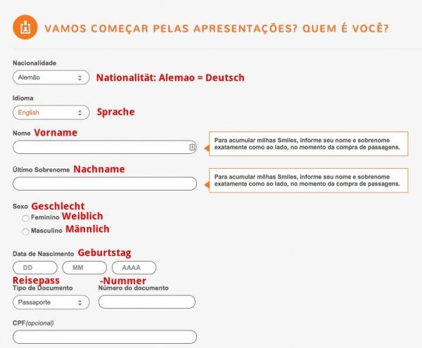 Smiles.com.br Registration