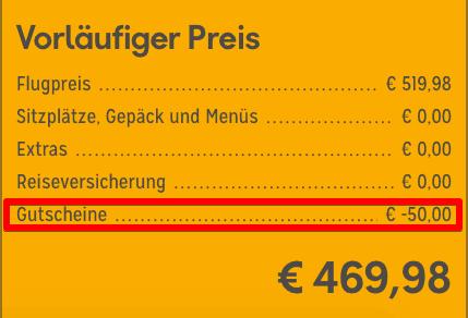 Zahlungsinformationen Condor II